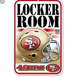 San Francisco 49ers locker room sign new 11X17
